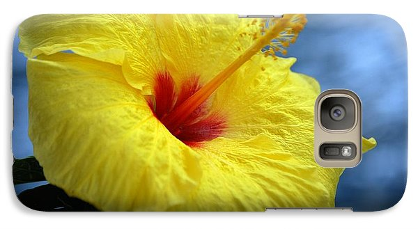 Galaxy Case featuring the photograph Yellow Hibiscus by Debbie Karnes