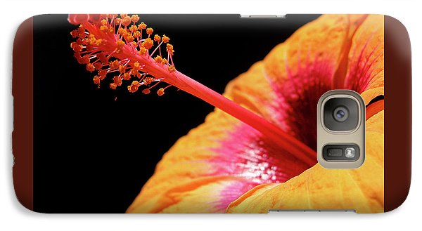 Galaxy Case featuring the photograph Yellow Hibiscus by Marie Hicks