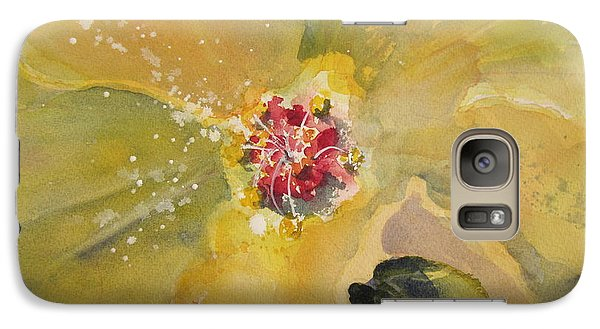 Galaxy Case featuring the painting Yellow Hibiscus by Sandra Strohschein