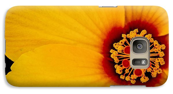 Galaxy Case featuring the photograph Yellow Hibiscus Squared by TK Goforth