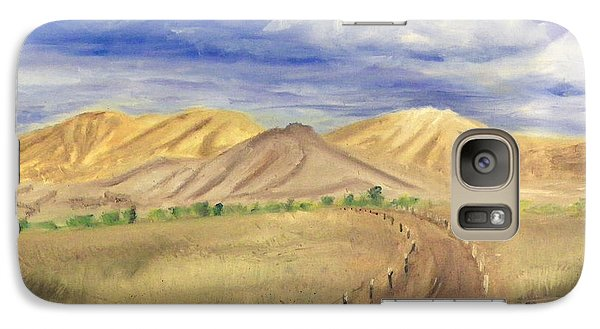 Galaxy Case featuring the painting Yellow Hills Of Jensen by Sherril Porter