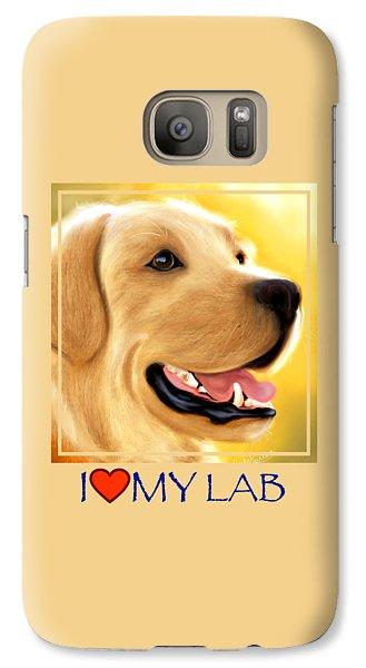 Yellow Lab Portrait Galaxy S7 Case
