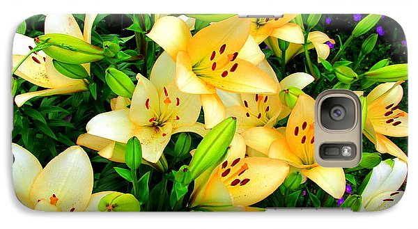 Galaxy Case featuring the photograph Yellow Lilies 2 by Randall Weidner