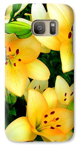 Galaxy Case featuring the photograph Yellow Lilies 3 by Randall Weidner