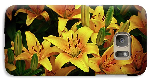 Galaxy Case featuring the photograph Yellow Lilies by Joann Copeland-Paul