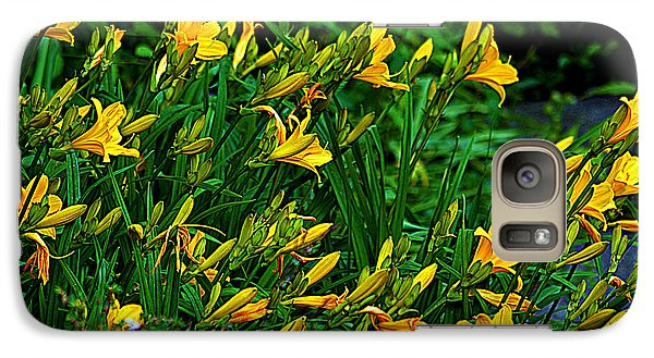 Galaxy Case featuring the photograph Yellow Lily Flowers by Susanne Van Hulst