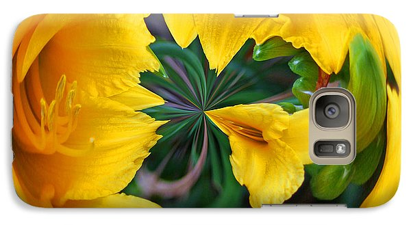 Galaxy S7 Case featuring the photograph Yellow Lily Orb by Bill Barber