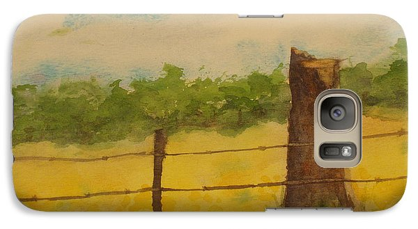Galaxy Case featuring the painting Yellow Meadow  by Vicki  Housel