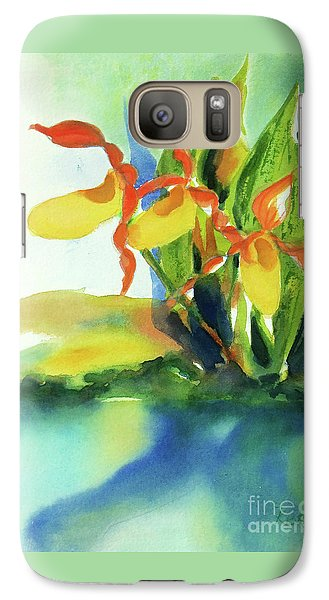 Galaxy Case featuring the painting Yellow Moccasin Flowers by Kathy Braud