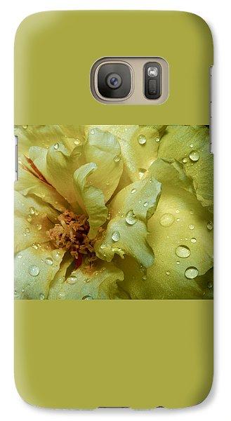 Galaxy Case featuring the photograph Yellow Moss Rose 1 by Karen Musick
