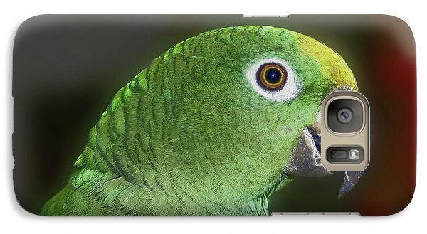 Galaxy Case featuring the photograph Yellow Naped Amazon Parrot by Smilin Eyes  Treasures