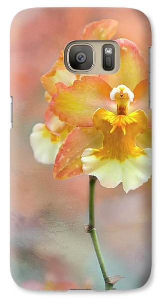 Galaxy Case featuring the photograph Yellow Orchid by Ann Bridges