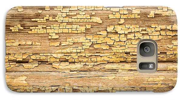 Galaxy Case featuring the photograph Yellow Painted Aged Wood by John Williams