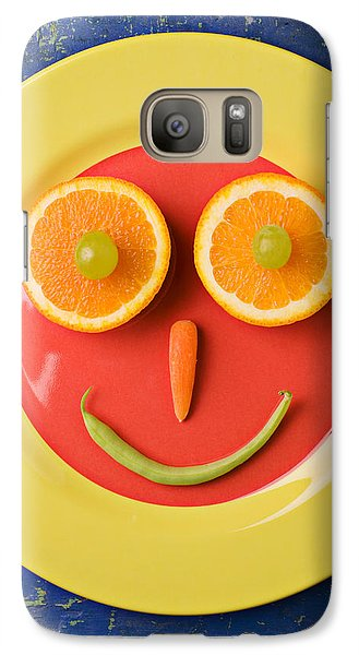 Yellow Plate With Food Face Galaxy S7 Case