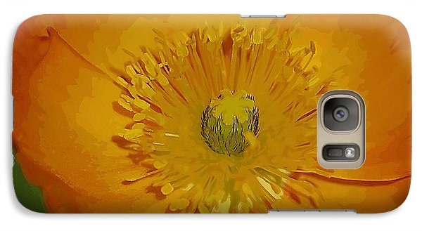 Galaxy Case featuring the photograph Yellow Poppy by Donna Bentley