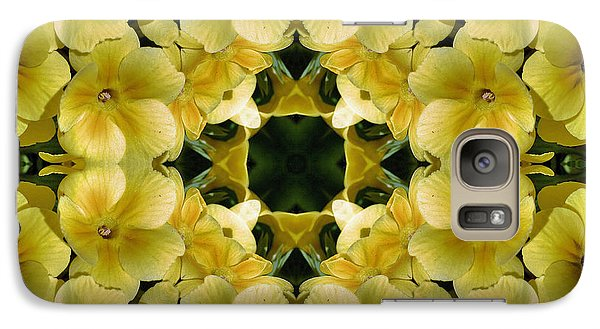 Galaxy Case featuring the digital art Yellow Primrose Kaleidoscope by Smilin Eyes  Treasures