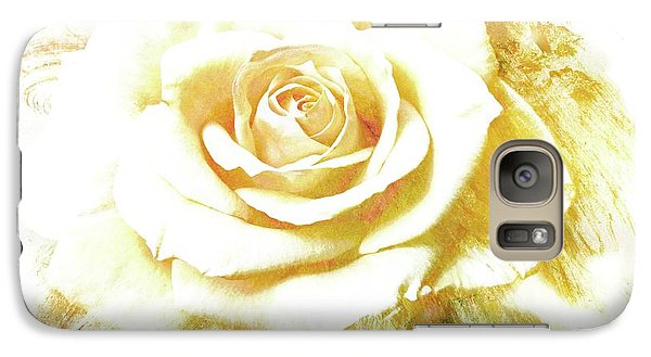 Galaxy Case featuring the photograph yellow Rose by Athala Carole Bruckner