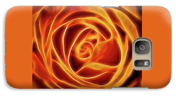 Galaxy Case featuring the photograph Yellow Rose Glow Square by Terry DeLuco