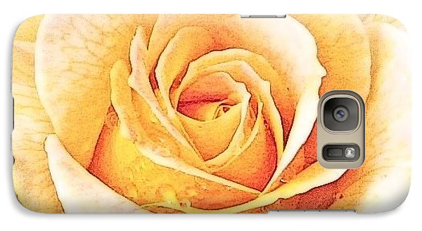 Galaxy S7 Case featuring the photograph Yellow Rose by Karen Shackles