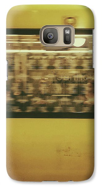 Galaxy Case featuring the photograph Yellow Subway Train by Ivy Ho