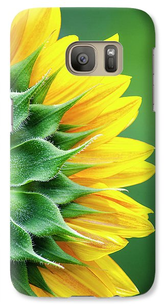 Yellow Sunflower Galaxy S7 Case by Christina Rollo