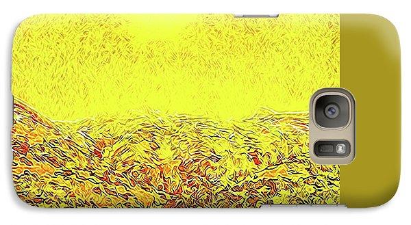 Galaxy Case featuring the digital art Yellow Sunlit Path - Marin California by Joel Bruce Wallach