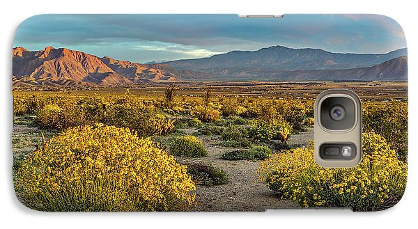 Galaxy Case featuring the photograph Yellow Sunrise by Peter Tellone