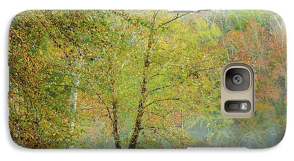 Galaxy Case featuring the photograph Yellow Trees by Iris Greenwell