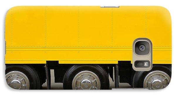 Yellow Truck Galaxy S7 Case by Carlos Caetano