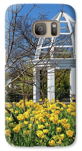 Tulip Galaxy S7 Case - Yellow Tulips And Gazebo by Tom Mc Nemar