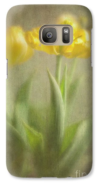 Galaxy Case featuring the photograph Yellow Tulips by Elena Nosyreva