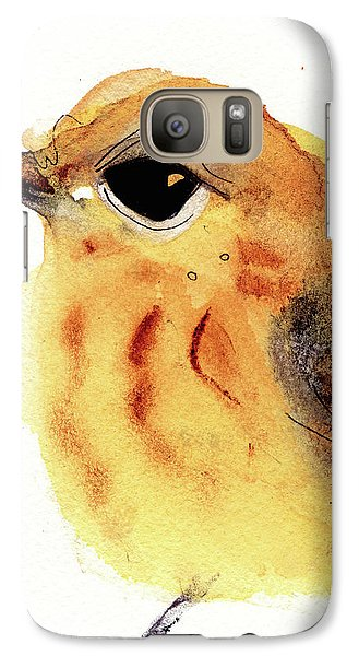Galaxy Case featuring the painting Yellow Warbler by Dawn Derman
