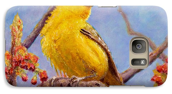 Galaxy Case featuring the painting Yellow Warbler by Joe Bergholm