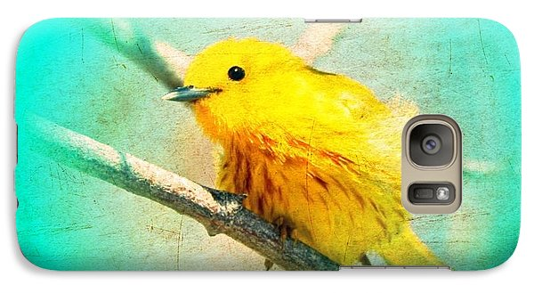 Galaxy Case featuring the photograph Yellow Warbler by John Wills