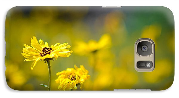 Galaxy Case featuring the photograph Yellow Wild Flowers by Kelly Wade