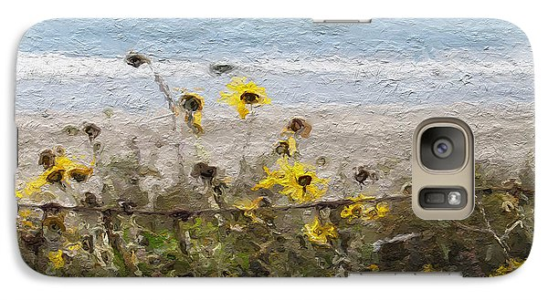 Daisy Galaxy S7 Case - Yellow Wildflowers- Art By Linda Woods by Linda Woods