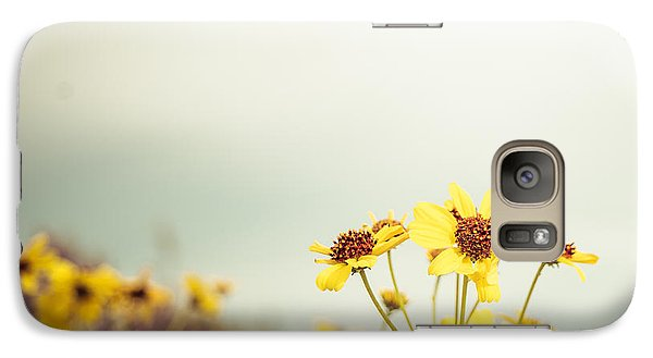 Galaxy Case featuring the photograph Yellow Wildflowers by Mary Hone