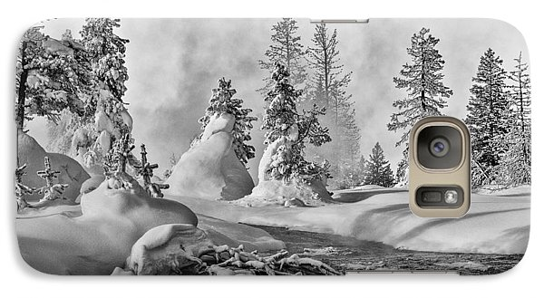 Galaxy Case featuring the photograph Yellowstone In Winter by Gary Lengyel