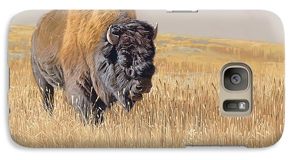 Buffalo Galaxy S7 Case - Yellowstone King by Aaron Blaise