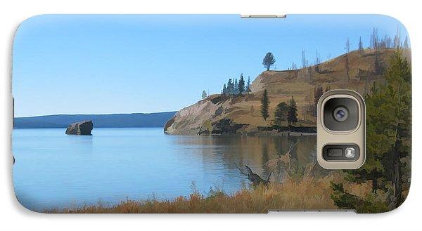 Galaxy Case featuring the digital art Yellowstone Lake Se by Gary Baird