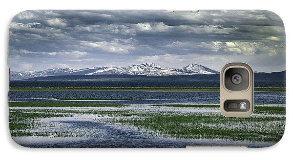 Galaxy Case featuring the photograph Yellowstone Mountain Scape by Jason Moynihan