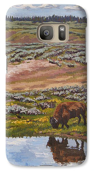 Galaxy Case featuring the painting Yellowstone Reflections by Erin Fickert-Rowland