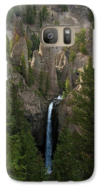 Galaxy Case featuring the photograph Yellowstone Waterfall by Roger Mullenhour