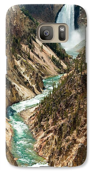 Yellowstone Waterfalls Galaxy S7 Case by Sebastian Musial