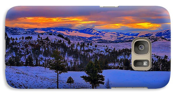 Galaxy Case featuring the photograph Yellowstone Winter Morning by Greg Norrell