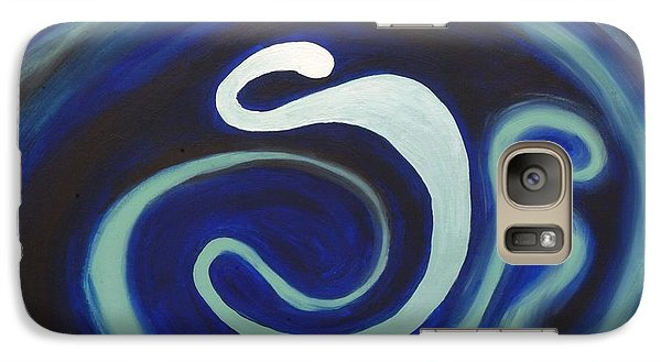Galaxy Case featuring the painting Yes Father I Am Mad At The Universe. by Lola Connelly