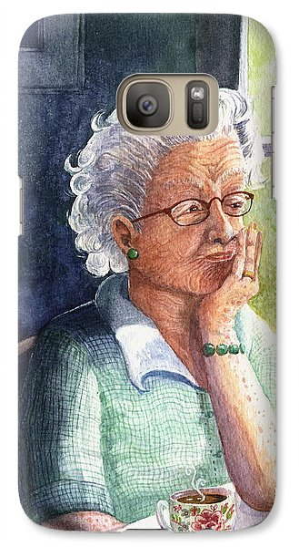 Galaxy Case featuring the painting Yesterday's Gone by Marilyn Smith