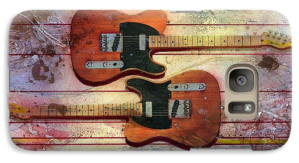 Galaxy Case featuring the painting Yin-yang Teles by Andrew King