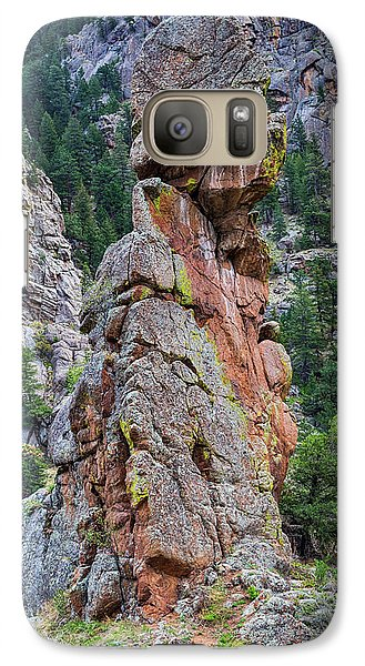Galaxy Case featuring the photograph Yogi Bear Rock Formation by James BO Insogna