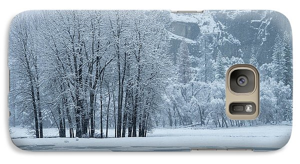Galaxy Case featuring the photograph Yosemite - A Winter Wonderland by Sandra Bronstein